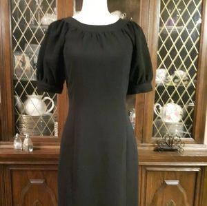Calvin Klein Black Puff Sleeve formal pencil dress